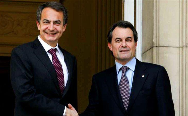 José Luis Rodríguez Zapatero y Artur Mas
