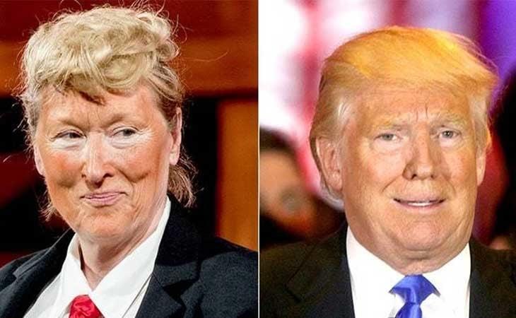 Meryl Street parodia a Donald Trump