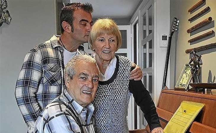 Maribel Tellaetxe y su familia