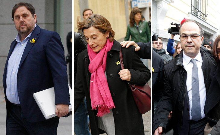 Oriol Junqueras, Carme Forcadell y Jordi Turull