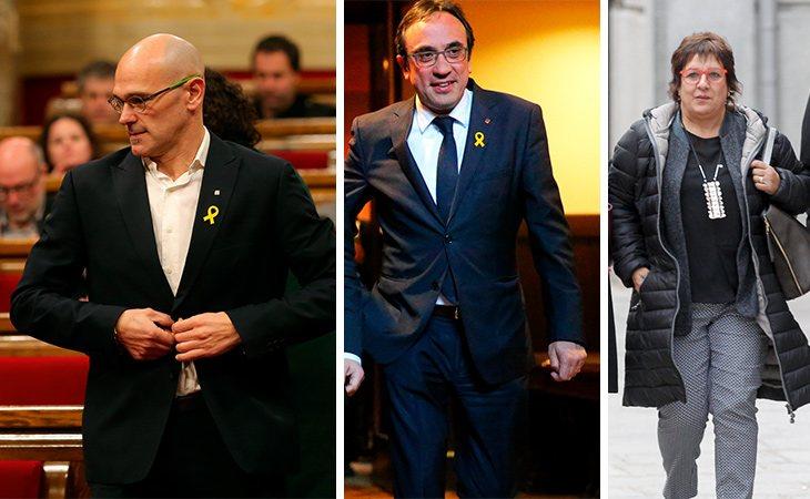 Raül Romeva, Josep Rull y Dolors Bassa