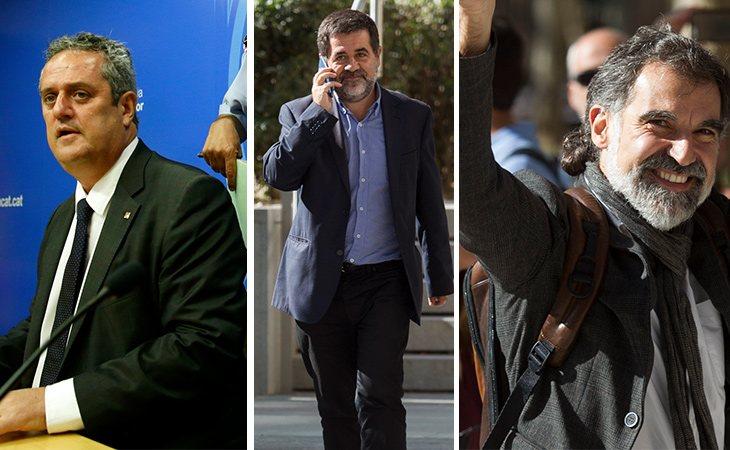 Joaquim Forn, Jordi Sànchez y Jordi Cuixart