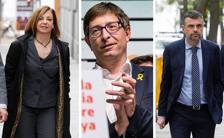 Los presos en libertad provisional, Meritxell Borràs, Carles Mundó y Santiago Vila