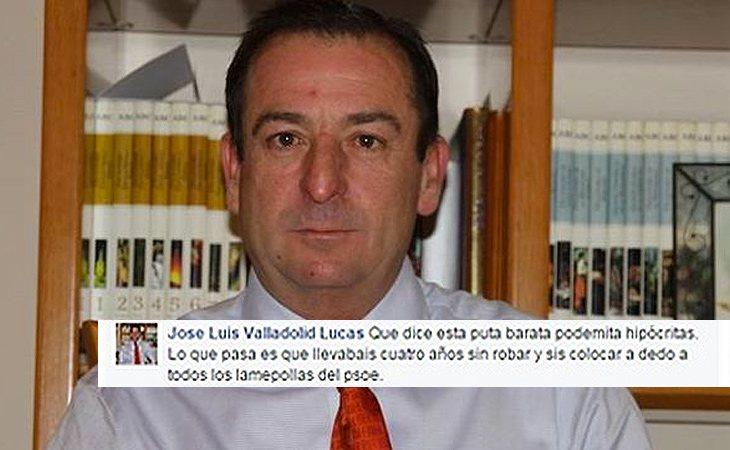José Luis Valladolid realizó un desafortunado comentario en Facebook sobre Cristina Maestre