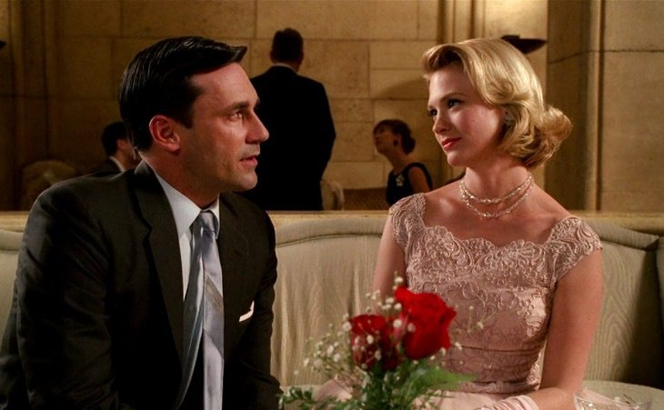 Don Draper y Betty en 'Mad Men'