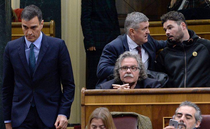 Los independentistas votan en contra de los PGE de Pedro Sánchez