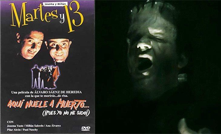 Villarejo hizo de Frankenstein en 'Aquí huele a muerto'