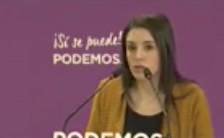 Irene Montero ha apoyado la gestión del Gobierno de Pedro Sánchez