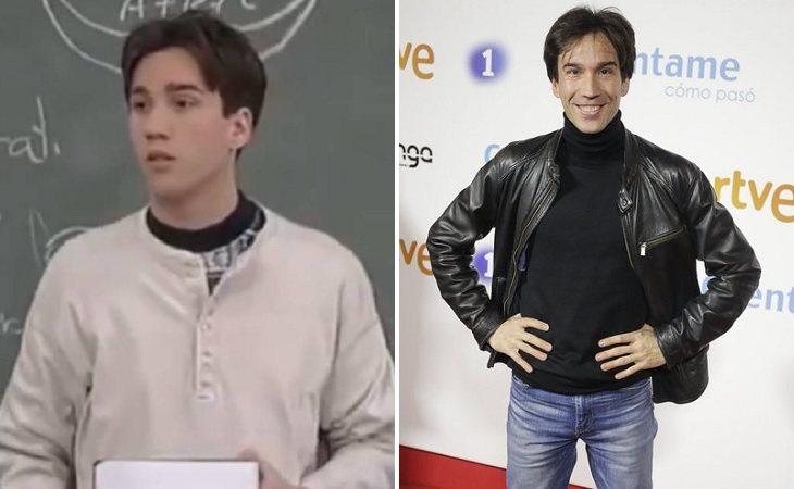 Manuel Feijóo como Luismi (izq.) y en la actualidad (der.)