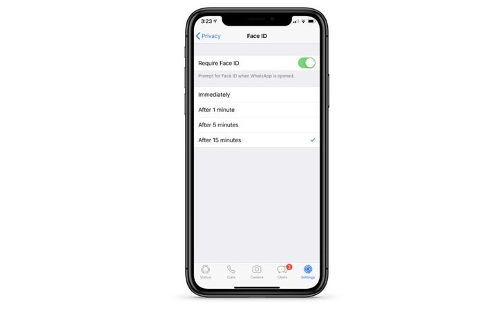 WhatsApp activará el reconocimiento facial para poder acceder a tus mensajes