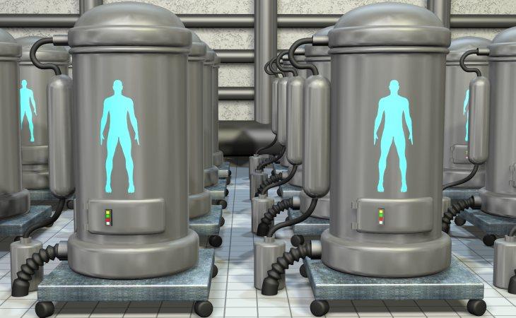 Una simulación de cabinas de criogenización