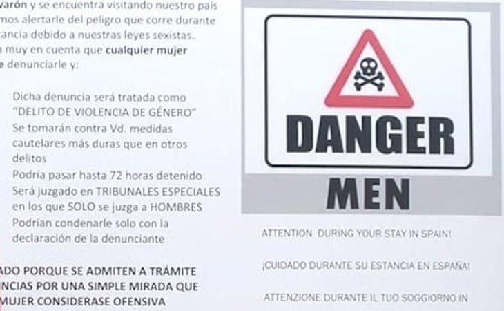 El folleto que alerta a los turistas sobre las