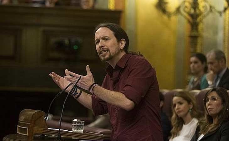 Pablo Iglesias en el Parlamento