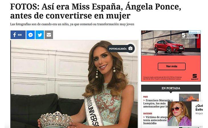Este tipo de publicaciones solo busca el morbo, Ángela Ponce no se ha 'convertido' en mujer, siempre lo ha sido