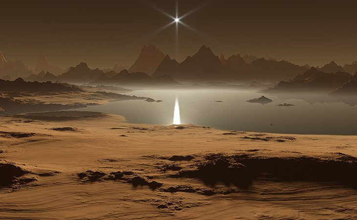 Las simulaciones de la superficie de Titán muestran lagos de hidrocarburos