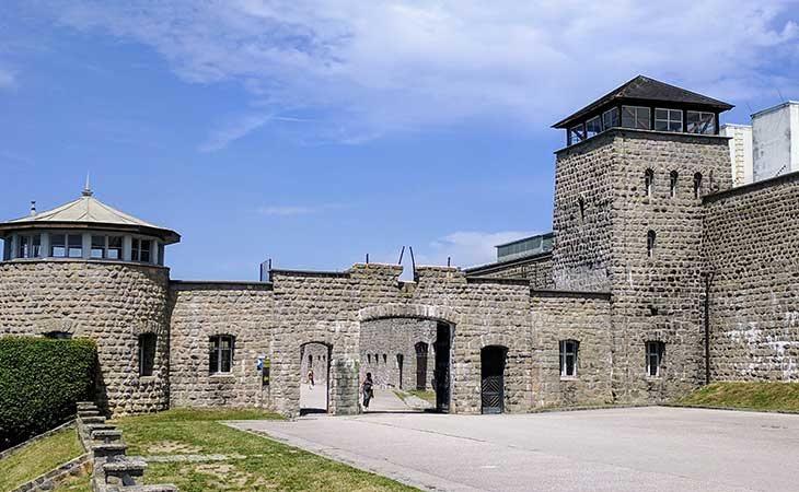 Vista actual del campo de concretación de Mauthausen