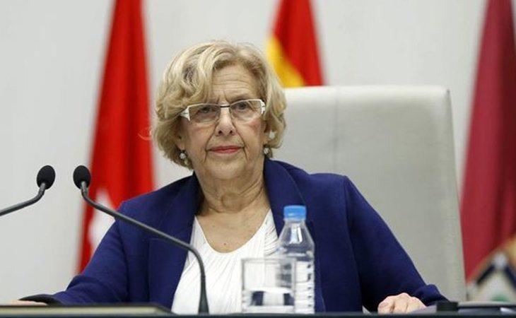 Manuela Carmena en el Ayuntamiento de Madrid