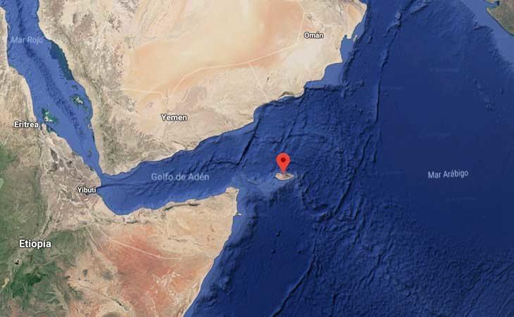 Situación de la isla de Socotra