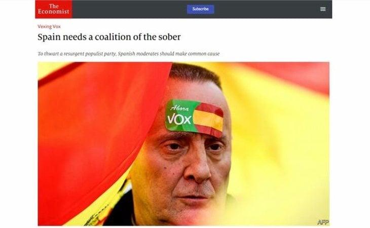 El editorial de The Economist critica la decisión de Albert Rivera