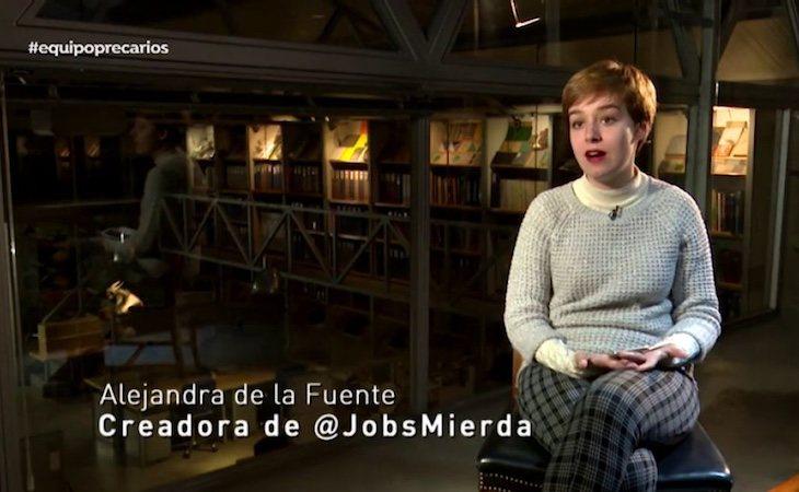 Alejandra de la Fuente es la creadora de MierdaJobs