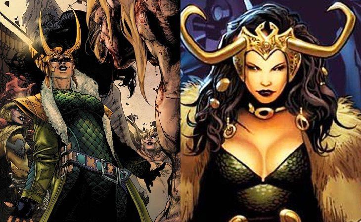 Loki en su voluptuosa apariencia femenina