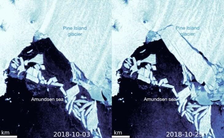 Comparativa del glaciar de la Antártida desprendido en 2018 - Cribeo
