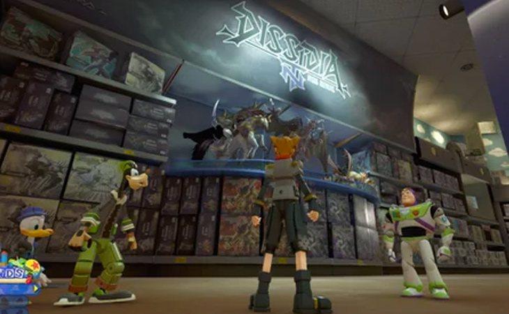 En la tienda hay toda una sala dedicada a 'Dissidia NT'