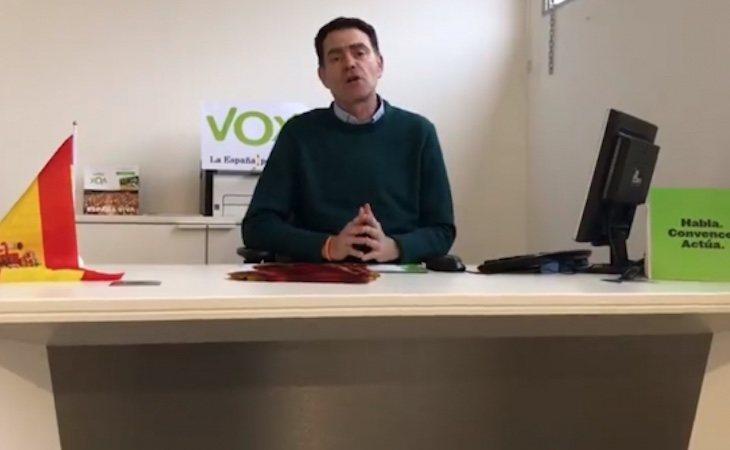 José Antonio Ortiz Cambray en su despacho en la sede de Vox en Lleida