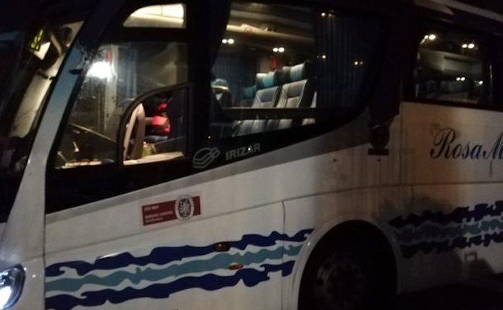 Así ha quedado el autobús de Hazte Oír