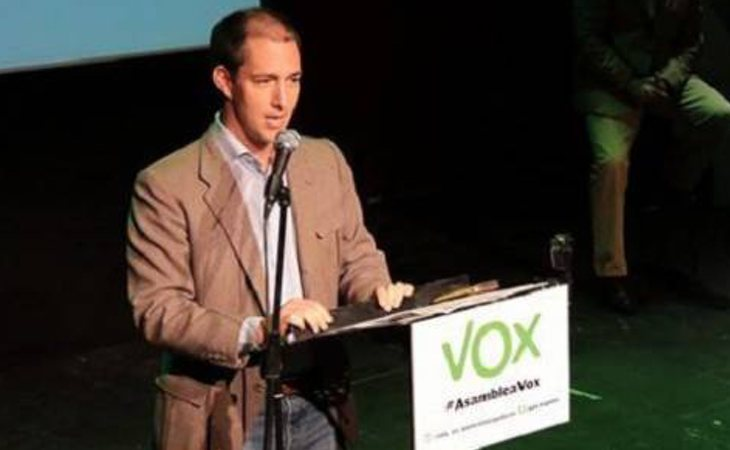 Víctor González Coello de Portugal en un acto de VOX