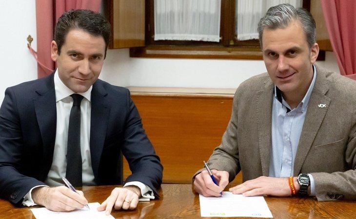 Teodoro García Egea y Javier Ortega Smith, secretarios generales del PP y de VOX