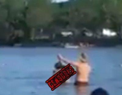 Graban a una pareja teniendo sexo en mitad de la playa mientras los bañistas les aplauden