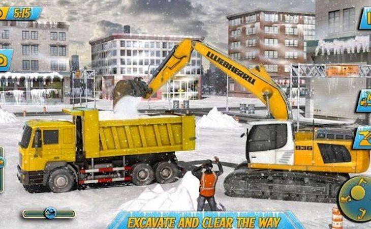 'Snow Heavy Excavator Simulator'