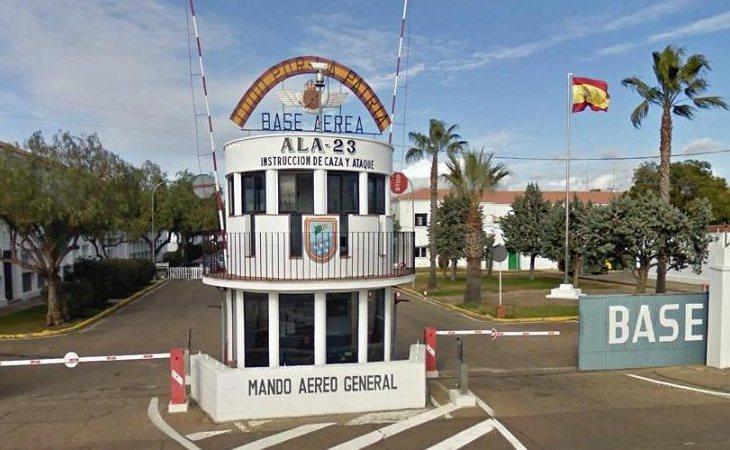 El control se llevó a cabo en la base de Talavera la Real