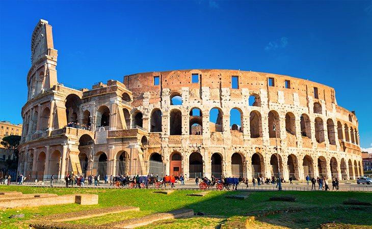 El Coliseo de Roma es uno de los monumentos más visitados