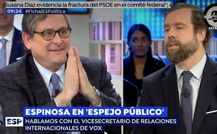 Espinosa de los Monteros durante su intervención en Espejo Público