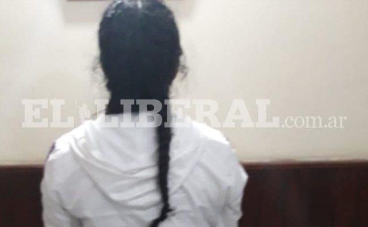 La acusada, declarando ante el juez, en una imagen publicada por el diario local El Liberal