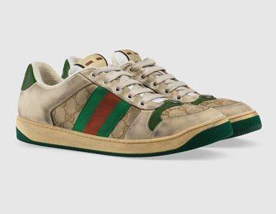 """Gucci vuelve a la polémica: vende zapatillas """"viejas y sucias"""" por 700 euros"""