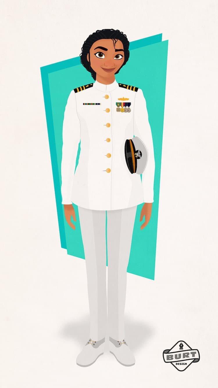 Moana sería comandante en la Marina