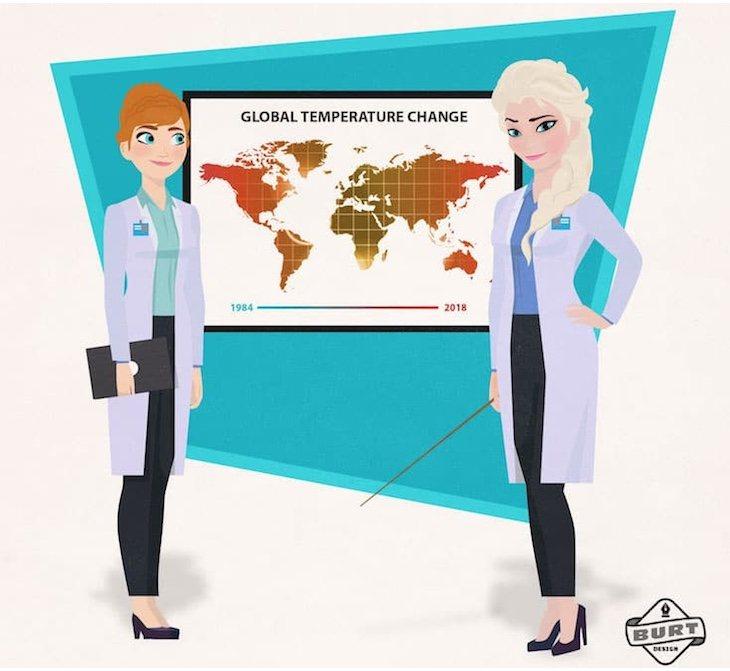 Elsa y Anna lucharían por salvar el planeta