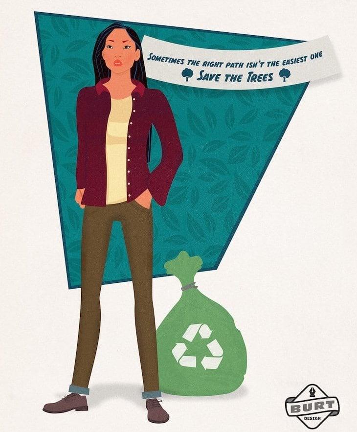 Pocahontas como jefa de una ONG
