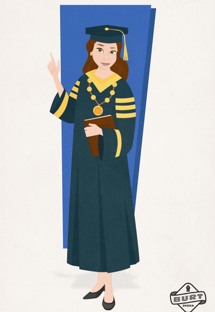 Su amor por los libros llevaría a Bella a ser rectora de Universidad