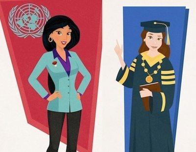 Estas serían las profesiones de las princesas Disney como mujeres empoderadas