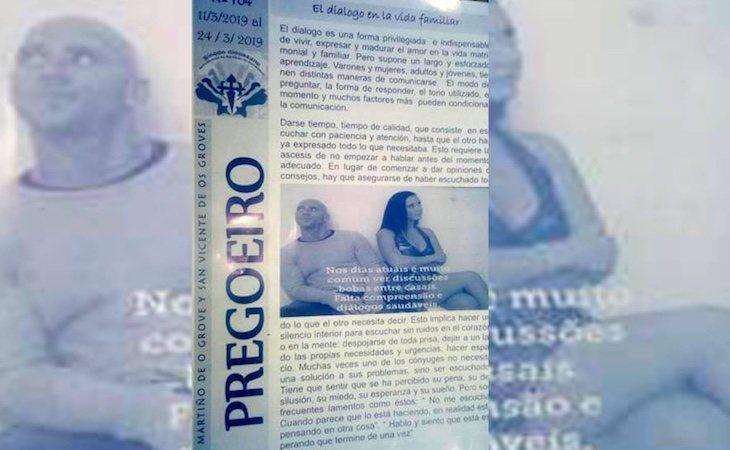 El folleto se repartió entre los más de 1.300 feligreses de la parroquia