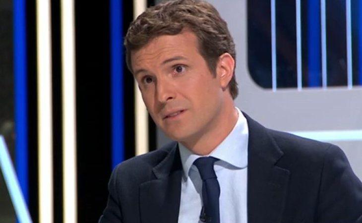 Pablo Casado durante su intervención en 'El Objetivo' de laSexta
