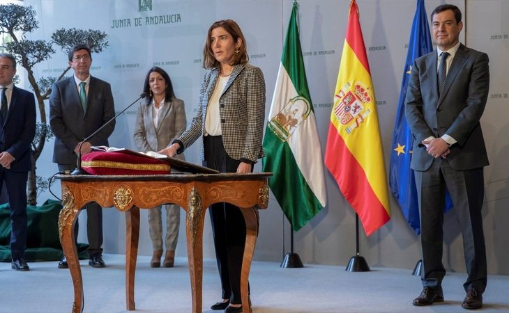 La consejera de Empleo, Rocío Blanco, anunció la creación de un comando antifraude que solo duró 24 días