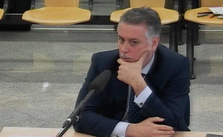 Alberto López Viejo durante su comparecencia ante el tribunal del caso Gürtel en 2017