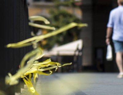 El Ayuntamiento de Madrid niega que los vecinos retirasen lazos amarillos que eran cintas contra orugas