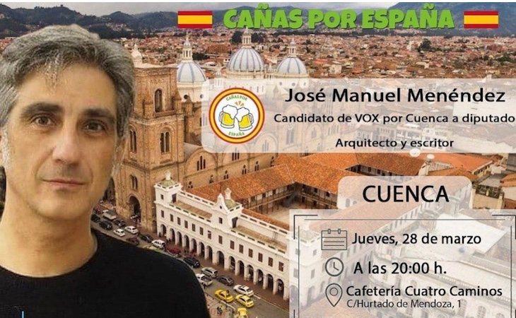El fallido cartel de VOX Cuenca se publicó en sus redes sociales