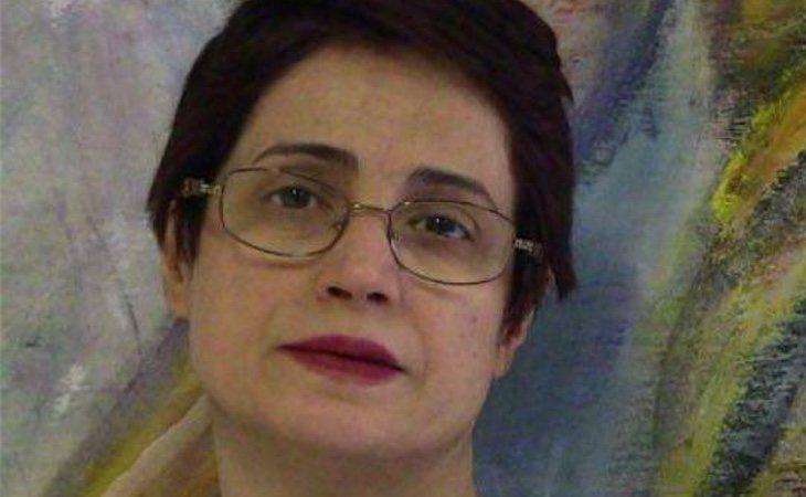 Nasrin Sotoudeh antes de ser encarcelada